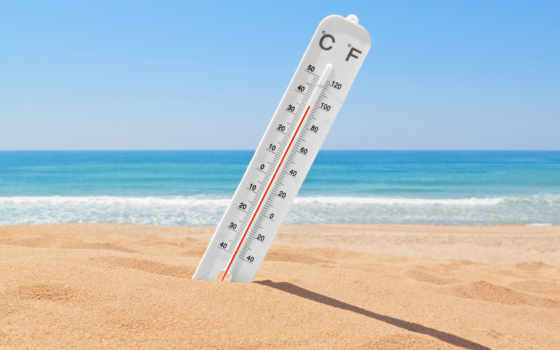 тепло, summer, песок, градусник, sun, температура, июнь, жарким,