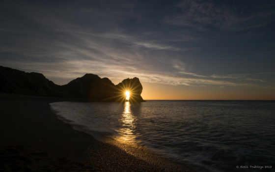 закат, пляж, magical, море, images, арка, free, durdle,