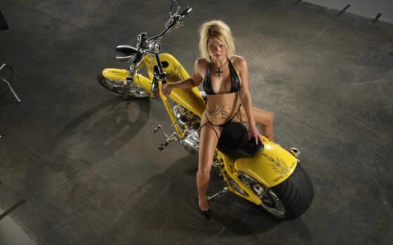 девушки, мотоциклы, мото