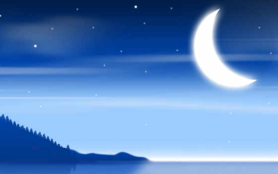 луна, минимализм, солнца
