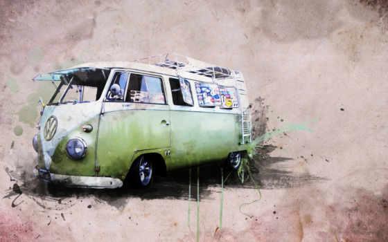 ван, volkswagen, креатив, года, хиппи, картинка, стиль, best, travel,