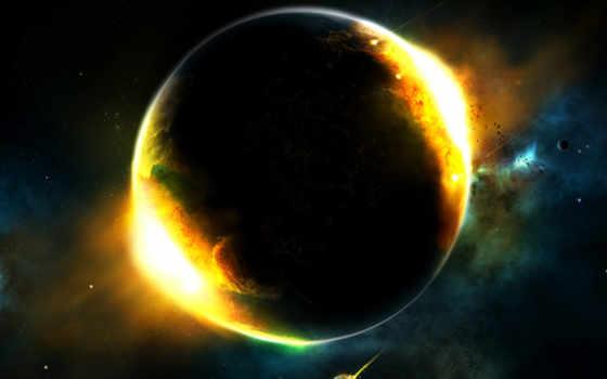 cosmos, планеты, космические, universe, свечение,