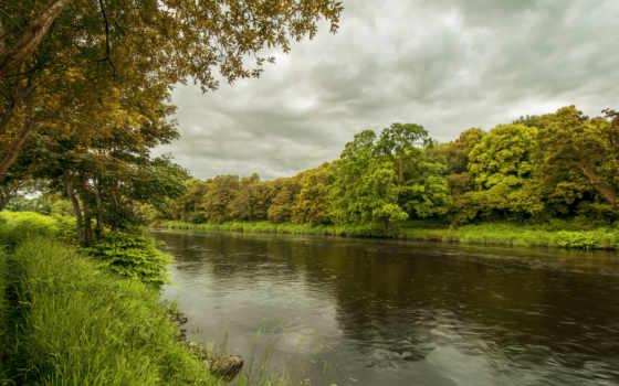 осень, фон, река, fondos, gallery, landscape, free, desktop,