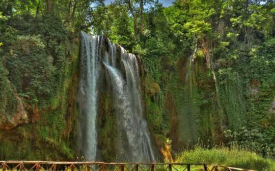 piedra, monasterio, испания, natural, park, водопад, rock, природа,