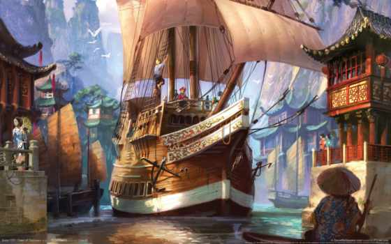 fantasy, anno, корабль
