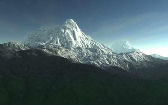 гора, пост, relate, snowy, облако, summit, озеро, system, park, national, banff
