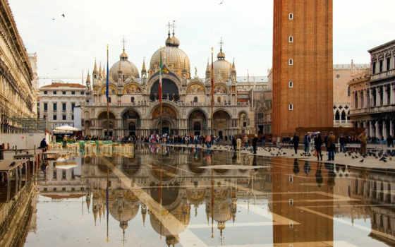 san, marko, площадь, венеции, venezia, italy, cathedral,