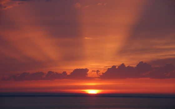 закат, sun, landscapes