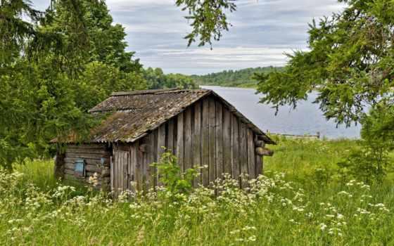 wooden, коттедж, река, близко, house, кабина, home, февр, ideas,