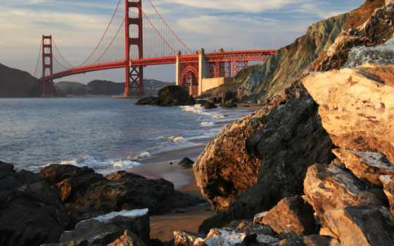 мост, gate, золотистый, sana, francisco, золотые, канал, iphone,