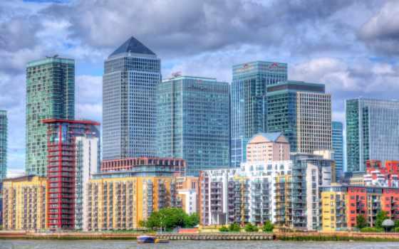 london, hdri, великобритания, skyscrapers, дома, hdr, kingdom, rivers,