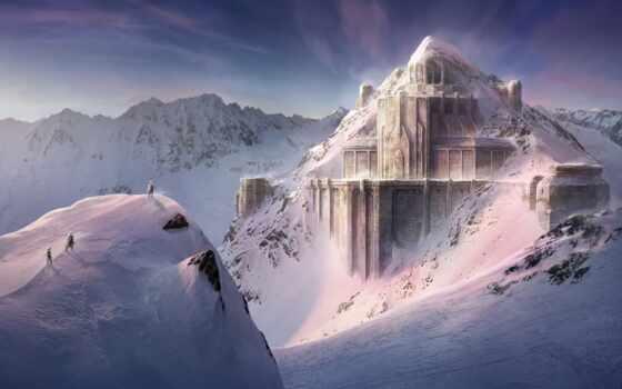 lord, ринг, fortress, dwarven, гора, north, war, снег, concept, илья, construction