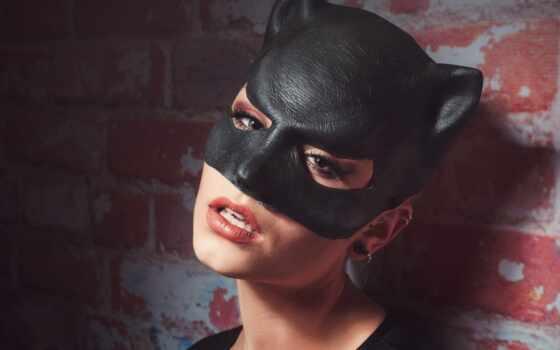 девушка, макияж, маска, взгляд, batman, сеть, адрес, everyday, minute