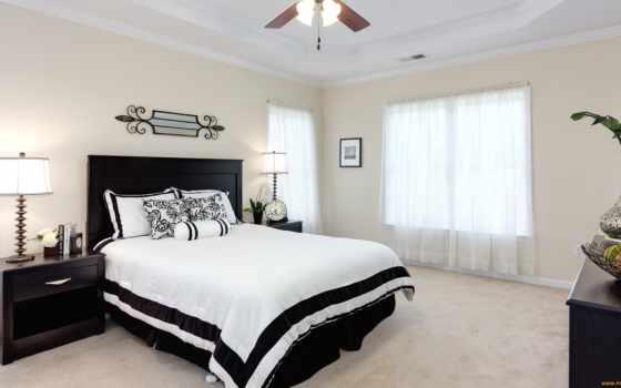 кровать, светлая, комната