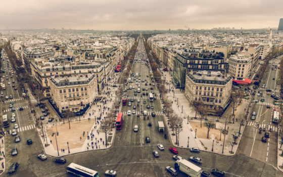 париж, cityscapes, streets