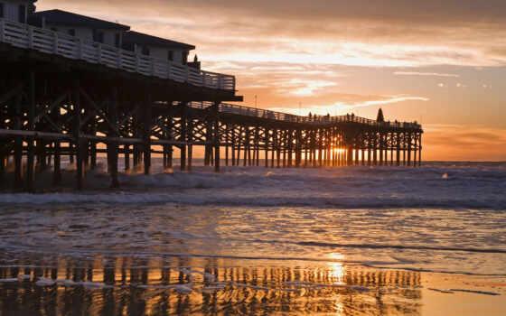 california, сан, закат