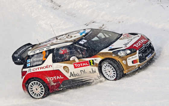 rally, winter, wrc, citroen, снег, race, авто,