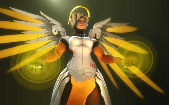 overwatch, mercy, тащим, video, desktop, games,