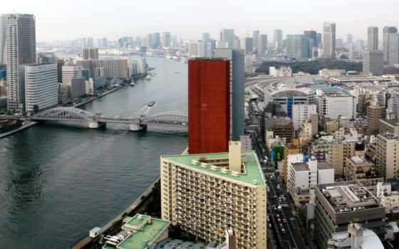 река, tokyo, sumida, япония, город, travel,