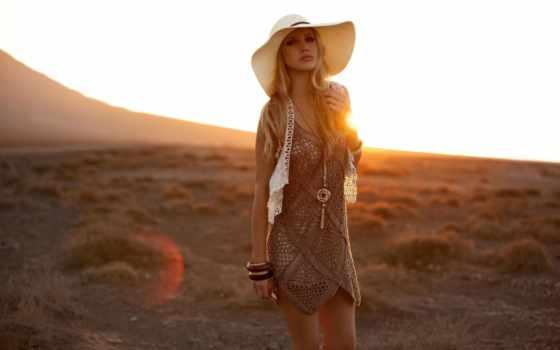 девушка, модель, sun, shane, ван, одежда, blonde, der, westhuizen, смотрит, шляпа,