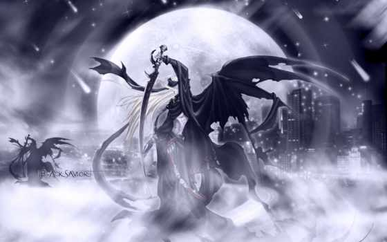 anime, демоны, картинку, ангелы,