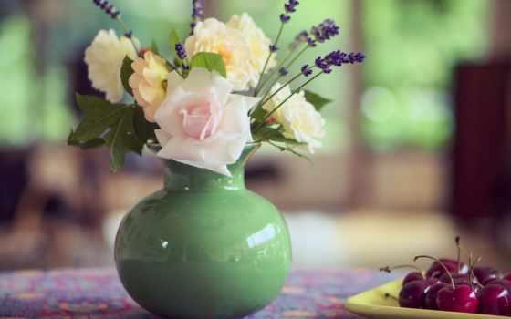 cvety, букет, ваза