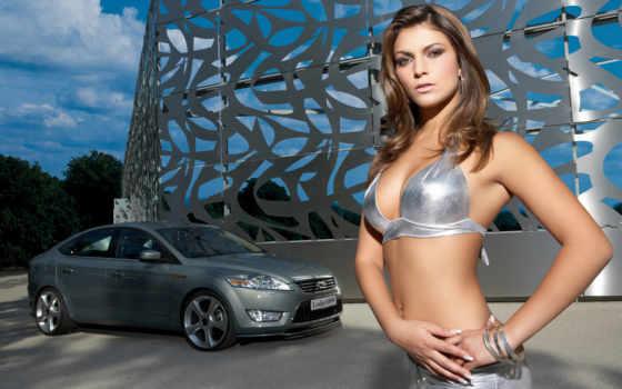 девушки, машины, красивые, автомобили,