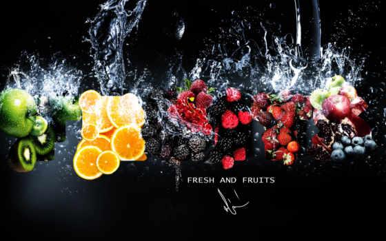 фрукты, ягоды, киви, клубника, яблоки, еда, fruits, страница, berries, малина,
