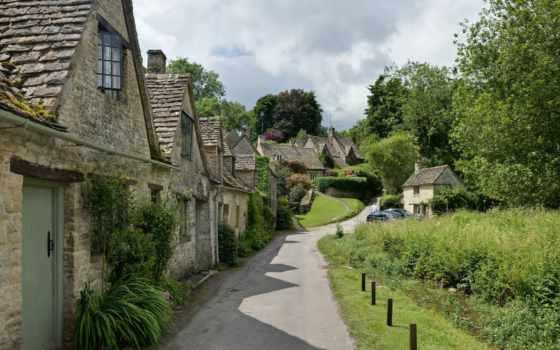 bibury, row, castle, антиквариат, arlington, деревня, англии, what, расположена, cotswold, than,