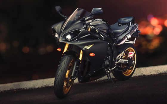 yamaha, yzf, black, мотоцикл, мотоциклы,