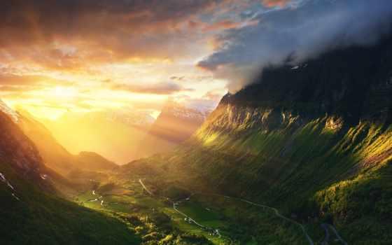 noruega, amanhecer, papéis, parede, лестница, alesund, норвегия, geirangerfjord, открытая, pinterest, trolley,