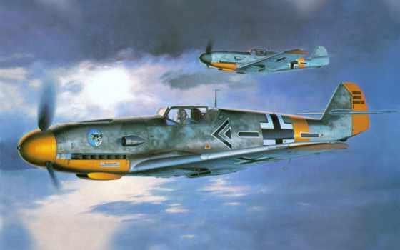 bf, мессершмитт, самолет, рисунок, мesserschmitt,