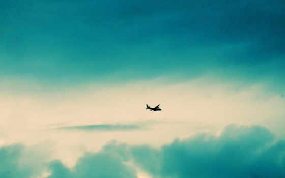 небо, самолёт Фон № 21062 разрешение 1920x1080