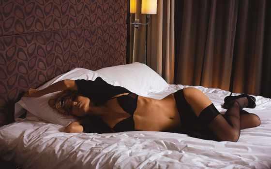 девушка, кровати, девушки