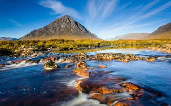 природа, шотландия, река