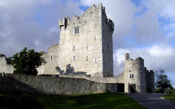 замки, castle, средневековые, нояб, част, старинные,