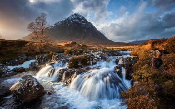 etive, buachaille, mor, шотландия, már, гора, scotia,