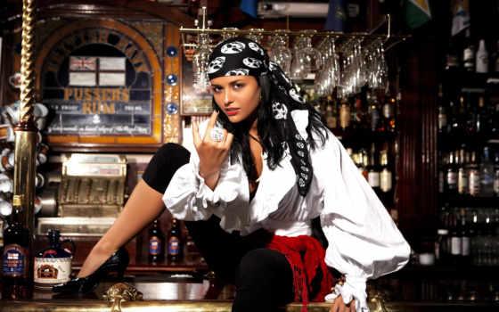 bar, девушка, пьянка, пиратка, фотообои, rack, модель,