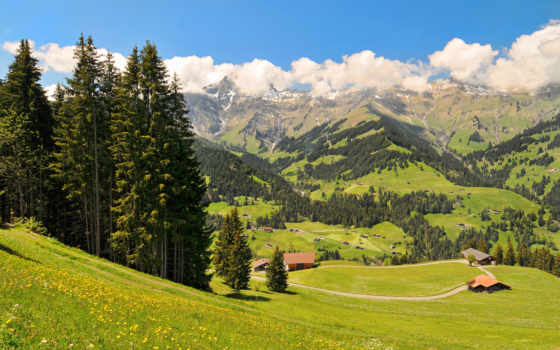 альпах, домики, lodge, разных, разрешениях, house, альпы, буква,
