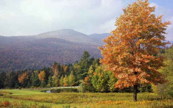 осень, горы, кубань