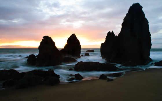 rocks, ago, пляж