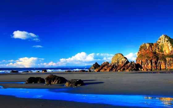 природа, duvar, kağıtları, пляж,