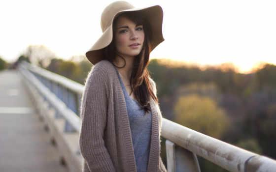 шляпа, пирсинг, девушка
