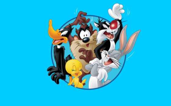 tunes, looney, багз, bunny, дак, duffy, тасманский, чертовка, bugs, твити,