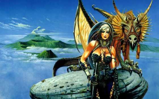 дракон, art, chris, работы, книга, achilleos, fantasy, информацию, художника, произведений,