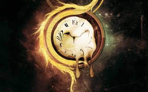 часы, time, trippy, который, день, луна, лунно, друг