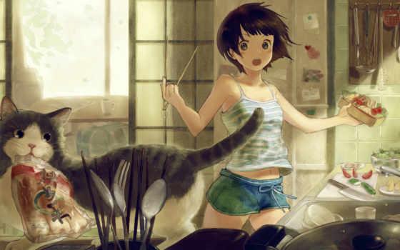 cat, anime