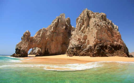море, скалы, арка Фон № 50438 разрешение 1920x1200