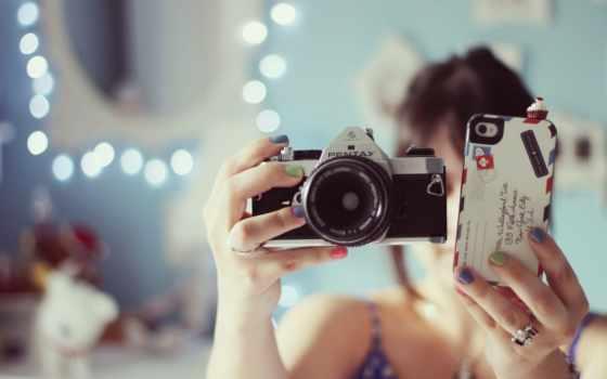 фотоаппарат, девушка, настроения