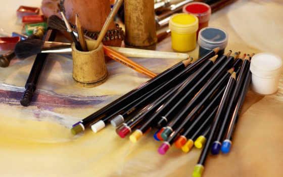 художника, множество, краски
